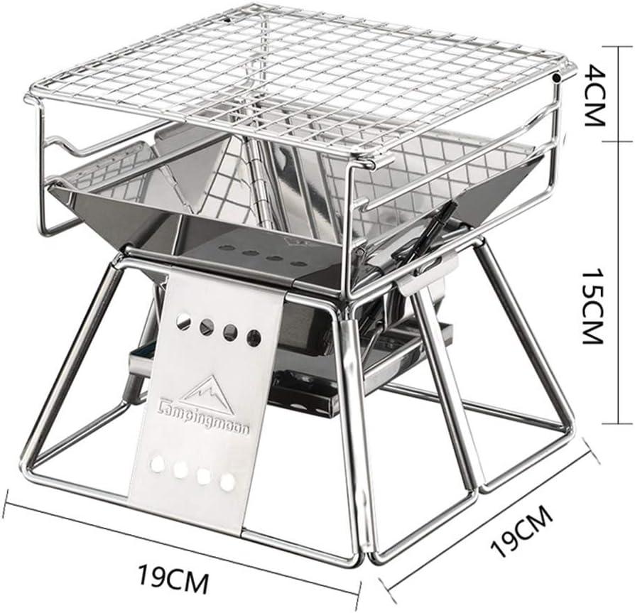 GLXQIJ Barbecue en Acier Inoxydable Barbecue Au Charbon De Bois Pliant Portable pour La Cuisine en Plein Air, Pique-Nique Au Camping, Outil pour BBQ 10 PièCes,7PCS 2pcs