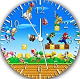 Super Mario Frameless Borderless Wall Clock W425 Nice For Gift or Room Wall Decor