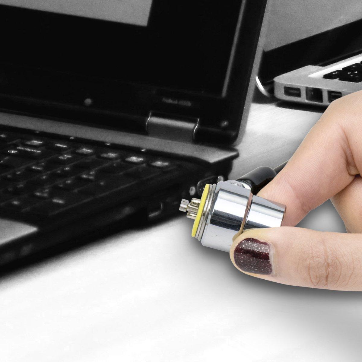 Cadenas de s/écurit/é I3C pour ordinateur portable avec c/âble /à combinaison de cl/é num/érique /à 4 chiffres C/âble antivol avec baril argent/é argent/é ressort