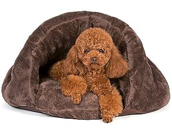 Myfei® Mascotas cueva cama saco de dormir bolsa de peluche bostezando cojín para perro gato