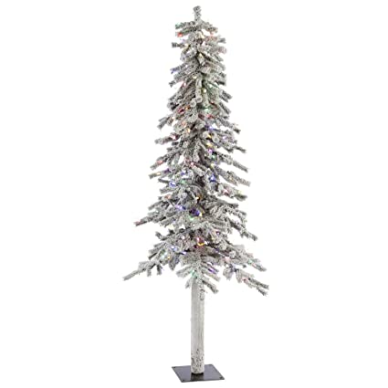 5caaaba46d246 Image Unavailable. Image not available for. Color  Vickerman 7  Flocked Alpine  Artificial Christmas Tree ...