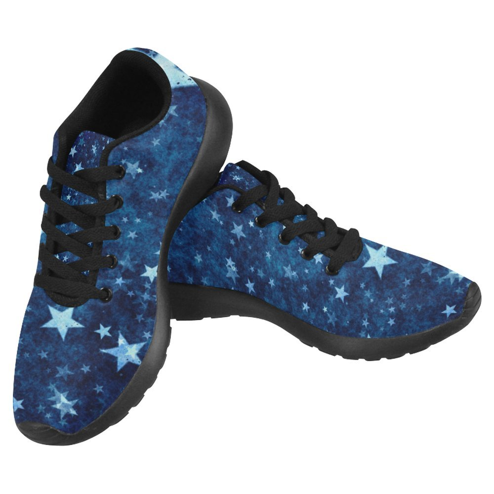 InterestPrint Women's Jogging Running Sneaker Lightweight Go Easy Walking Casual Comfort Running Shoes Size 6 Vintage Stars