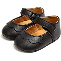 BEBARFER Baby Girls Mary Jane Flats with Bowknot Non-Slip Soft Sole Toddler First Walkers Princess Dress Shoes