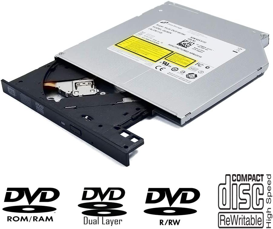 Laptop Internal DVD/CD Player Slim Optical Drive Replacement, for Dell Inspiron 15 5000 5567-1753 3000 3543 3542-2293 Laptop 23 AIO 5348 Notebook PC, Dual Layer 8X DVD+-R DL CD-R Burner
