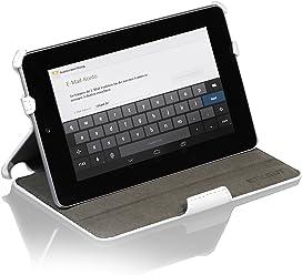 StilGut UltraSlim Case, esclusiva custodia per Google Asus Nexus 7 (8 & 16GB) con funzione stand-up e funzione on/off, bianco