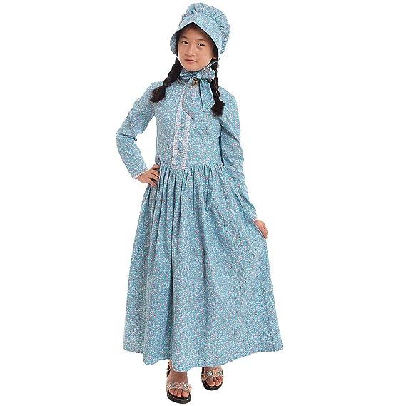 37eca73c1 GRACEART Victoriana Pionero Pradera Colonial Niña Disfraz: Amazon.es ...