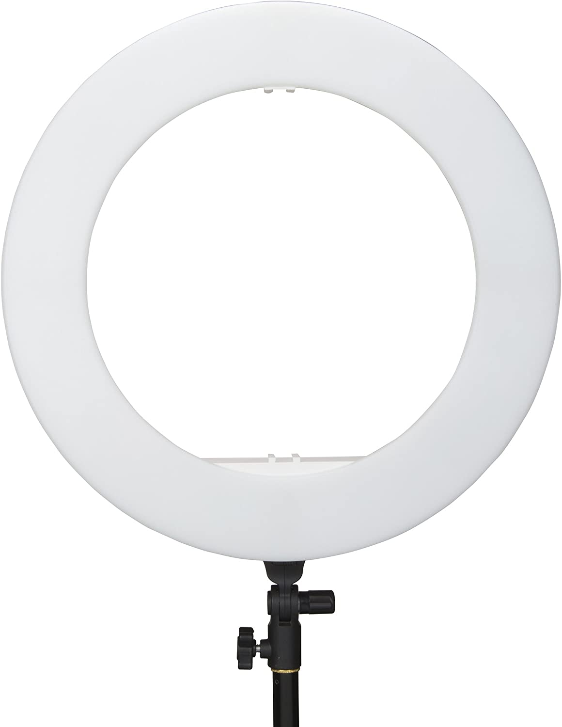 Black Bi-Color LED Ring Light Interfit LEDR48B Studio Essentials Dimmable