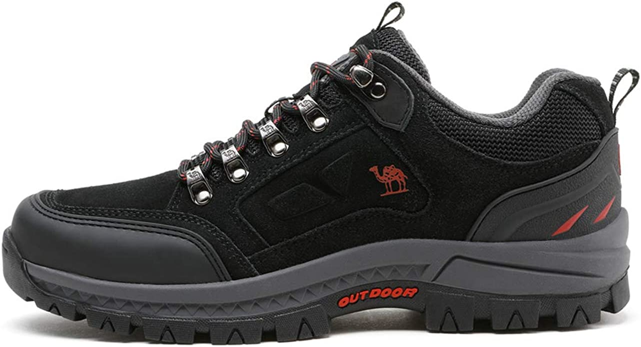 CAMEL CROWN Chaussures de Randonn/ée Basses Homme Chaussures de Marche Chaussure Montagne Cuir Antid/érapant Trekking Outdoor