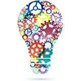 Wallmonkeys Abstract Lightbulb from Gears Peel and Stick Wall Decals WM22225 (18 in H x 18 in W)