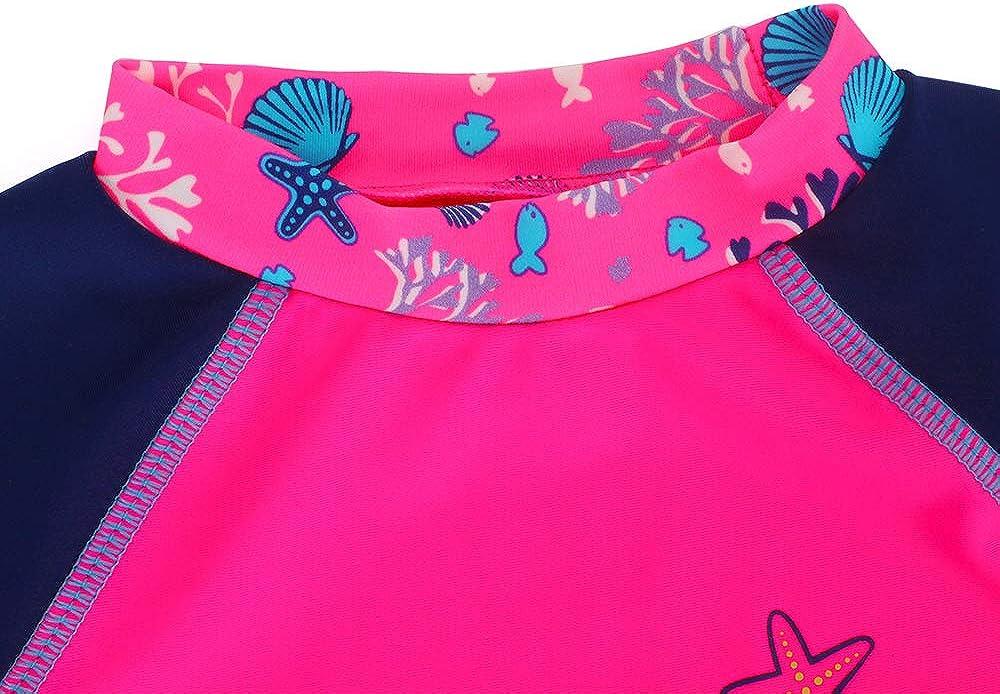 LACOFIA Baby Boys Girls Short Sleeve Rash Vest Toddler Swim Tops Kids Quick Dry UPF50 UV Protection Rashguard Shirt