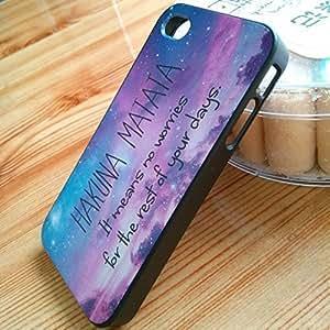 Hakuna Matata Hard Plastic Back Cover Case for iphone 4 4s