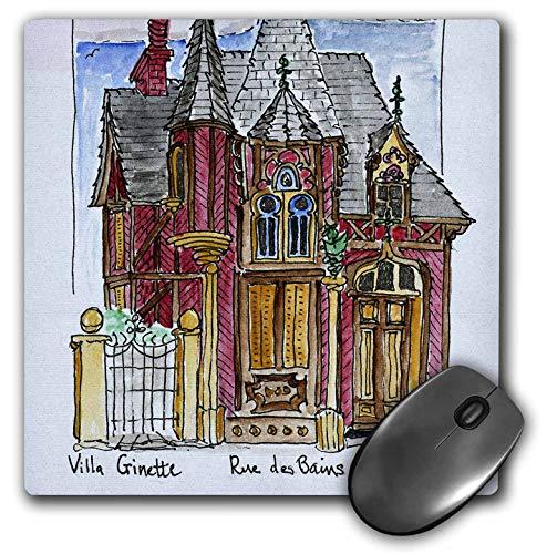 3dRose Danita Delimont - France - House on Rue des Bains, Normandy, Houlgate, France - Mousepad (mp_313128_1)
