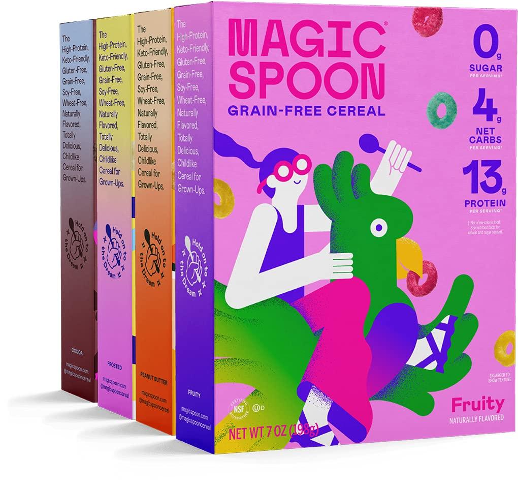 Magic Spoon Cereal - High Max 79% OFF Protein Zero Low Super sale period limited Sugar Carb Gluten
