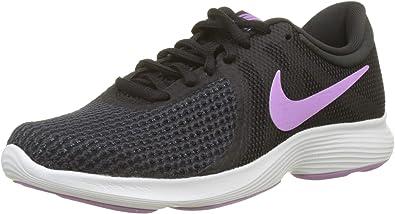Nike Wmns Revolution 4, Zapatillas de Running para Mujer, Negro (Black/Fuchsia Glow-Oil Grey-Summit White 011), 36 EU: Amazon.es: Zapatos y complementos