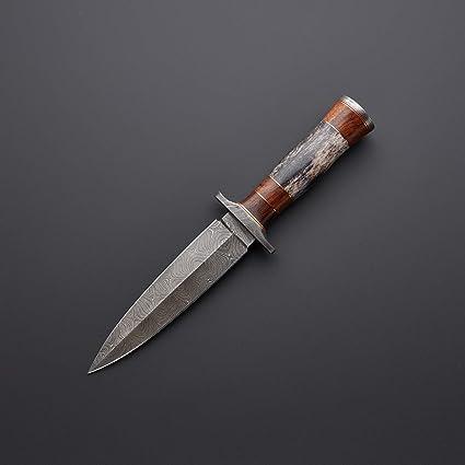 Amazon.com: vkyknife hecho a mano acero de Damasco daga ...