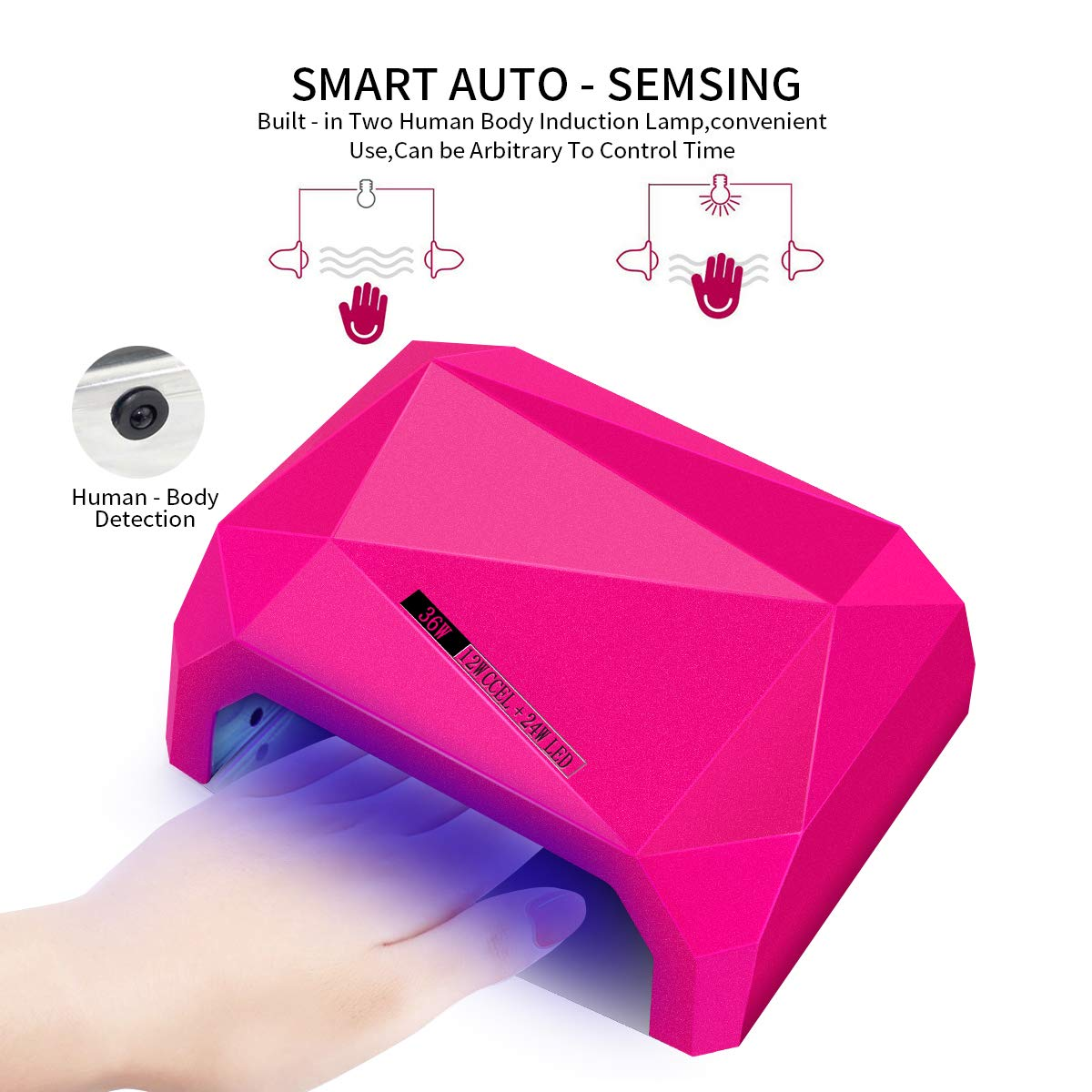 Lámpara LED UV Profesional de 36W, Morpilot Secador de Uñas para Manicura de Shellac y Gel con Temporizador de 3 Modos para mujer
