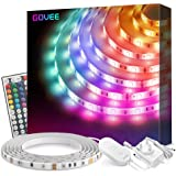 Led Strip Lights, Govee 16.4Ft Waterproof RGB Light Strip Kits with Remote for Room, Bedroom, TV, Kitchen, Desk, Color…