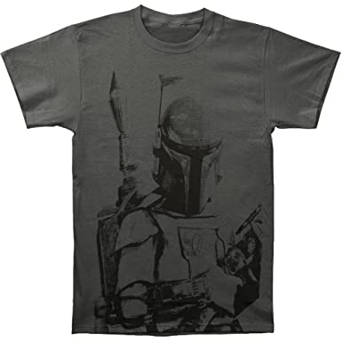 6a61db123 Amazon.com: Star Wars Boba Fett Sarlacc Bait Adult T-Shirt: Clothing
