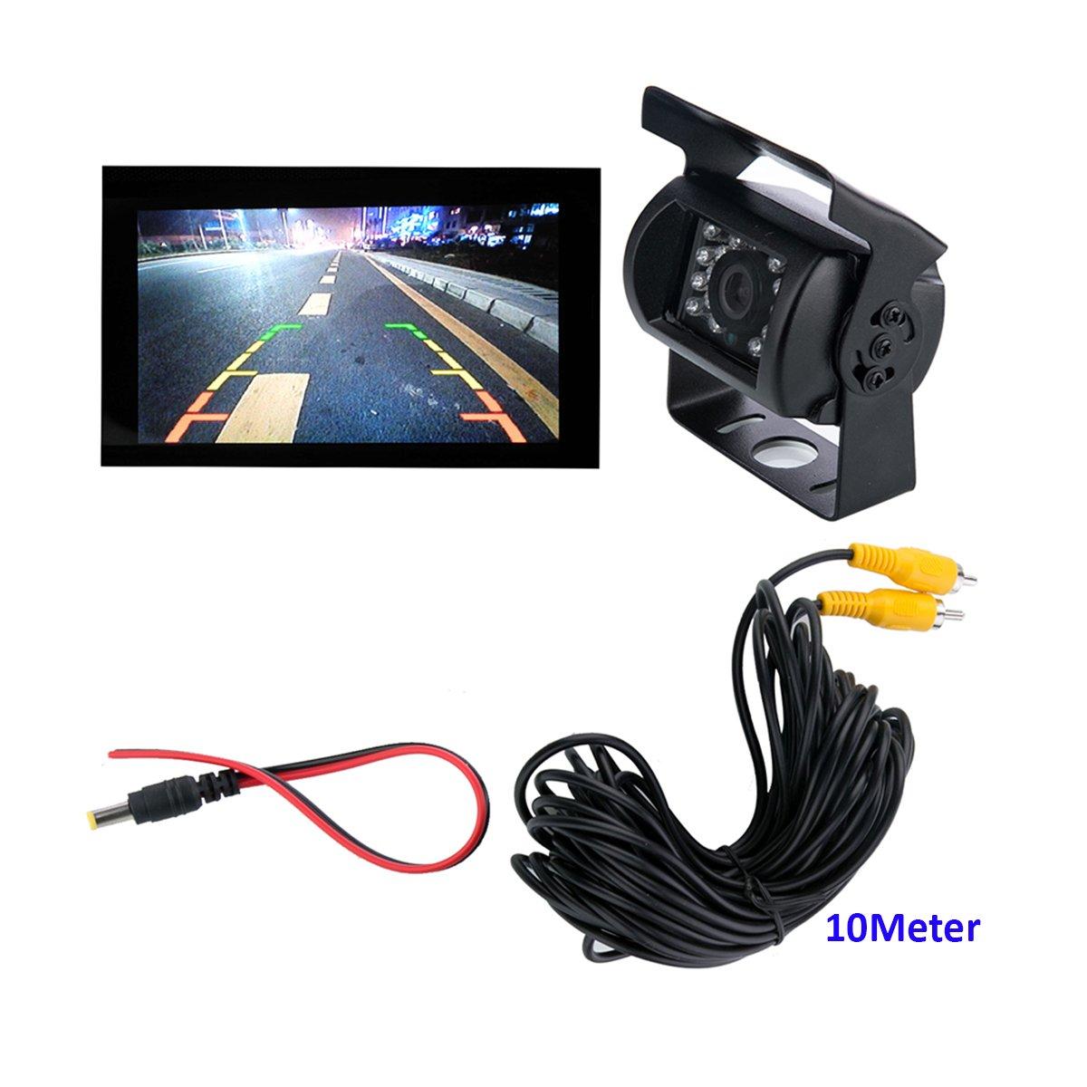 /35/V tensione larga Snanshi telecamera per retromarcia camion pickup Bus veicolo roulotte telecamera posteriore di backup con visione notturna a infrarossi a LED DC 9/V/