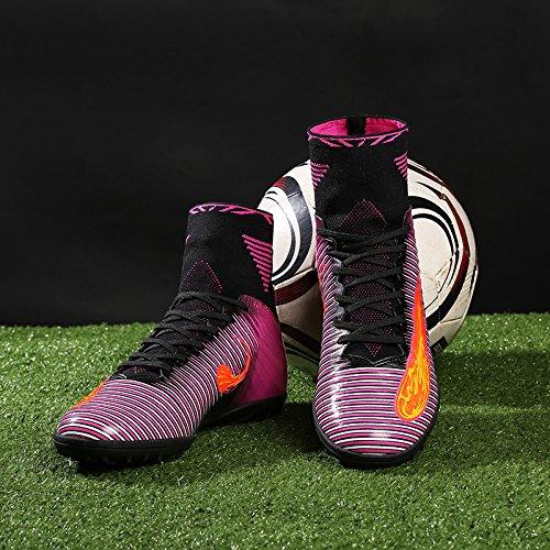 Zapatos de fútbol Niños Botas de fútbol Hombres Botas de Fútbol Adolescentes Fútbol Atletismo Zapatos de Entrenamiento Deportes Zapatillas Por VITIKE Púrpura1
