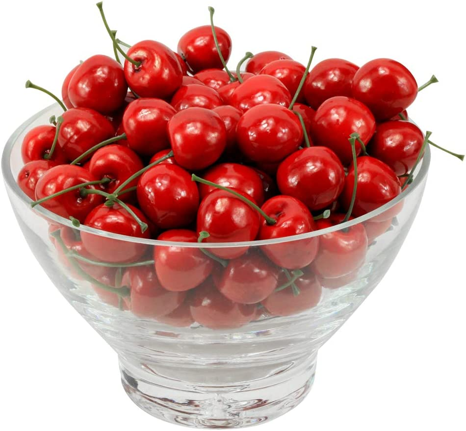 MyLifeUNIT Artificial Cherry Fruit, Artificial Fruit for Decoration, 100 PCS