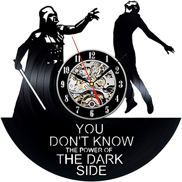 Star Wars, The Force Awakens, Wall Clock Vintage, Gift for Boyfriend, Vinyl Record Clock, Vinyl Wall Clock, Darth Vader, Star Wars Clock, Wall Clock Moder, Gift for Brother, Star Wars Gift