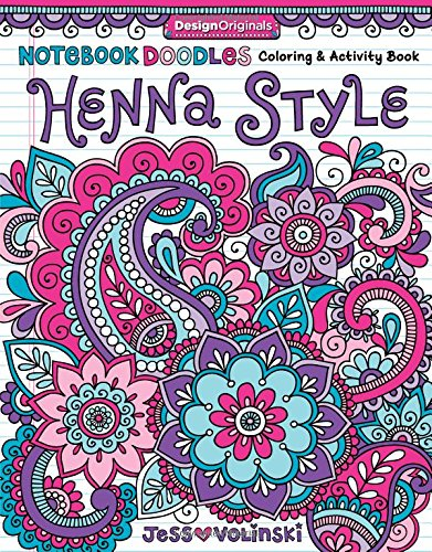 Notebook Doodles Henna Coloring Activity product image