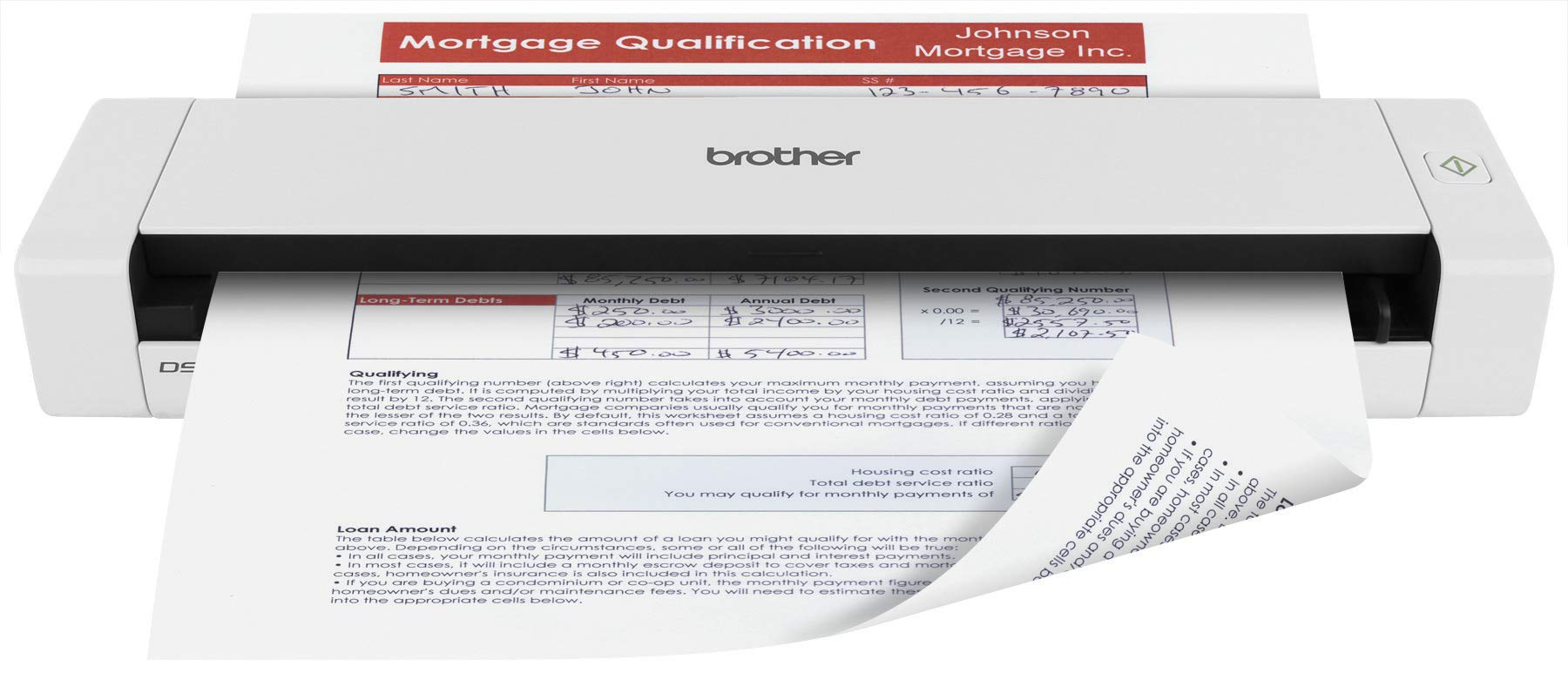 Brother Mobile Color Page Scanner, DS-720D, Fast Scanning, Compact and Lightweight, Duplex Scanning by Brother