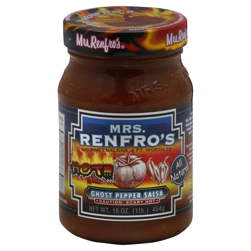 Renfro Fine Foods Salsa, Ghost Pepper, 16-Ounce (Pack of 6)