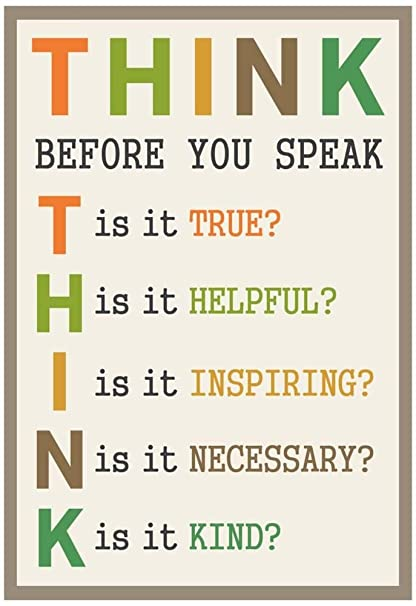 Image result for THINK before you speak