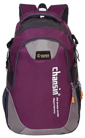 Mochila De Nylon Unisexo Mochila Bolsa Para Ir De Excursión Escalada De Camping (Púrpura Oscuro): Amazon.es: Deportes y aire libre