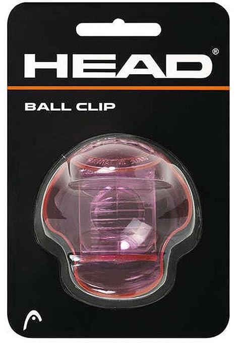 Head Tenis titular bola de clip transparente de color rosa-