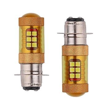 zhuque Super Bright P15D 28SMD 3030 Dorado bombillas LED W/lente Moto Luz Antiniebla Faros 12 - 24 V (Pack de 10): Amazon.es: Coche y moto
