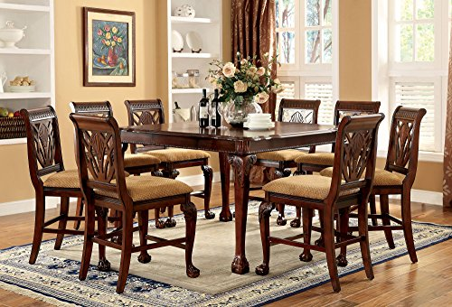 247SHOPATHOME IDF 3185PT 9PC Dining Room Sets, 9 Piece Set