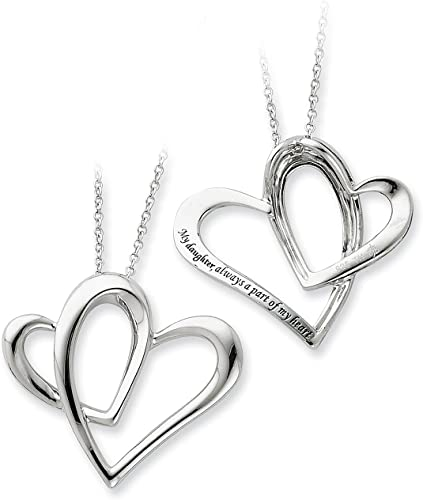 Sterling Silver Polished /& Antiqued I Love You To Heaven /& Back Necklace 18 by Sentimental Expressions
