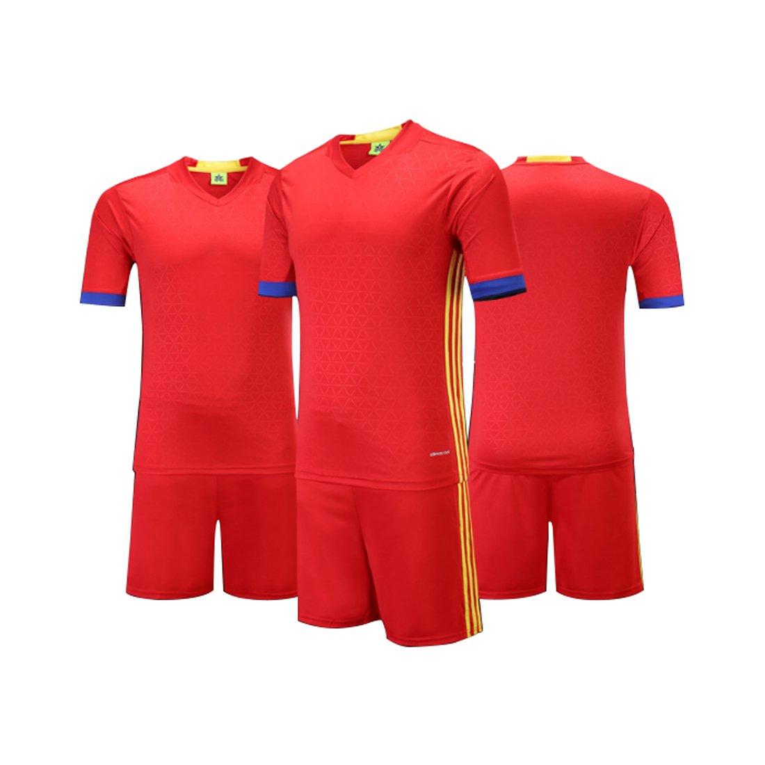 Yefree Hombre Mujer Ropa de Fútbol Camiseta de Entrenamiento de Fútbol de Manga Corta Camisa de Fútbol para Niños Sudaderas y Pantalones Cortos: Amazon.es: ...