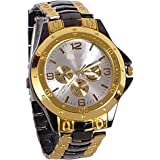 OpenDeal Rosra Black Golden Casual Analog Watch for Men OD-W047