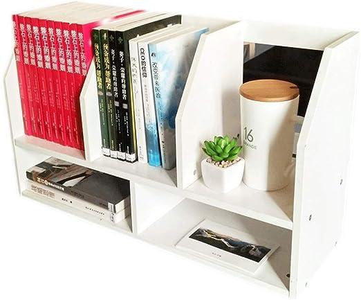 estantería de Mesa Libros estantes de exhibición Organizador para Libros Plantas Oficina (Color : White): Amazon.es: Hogar