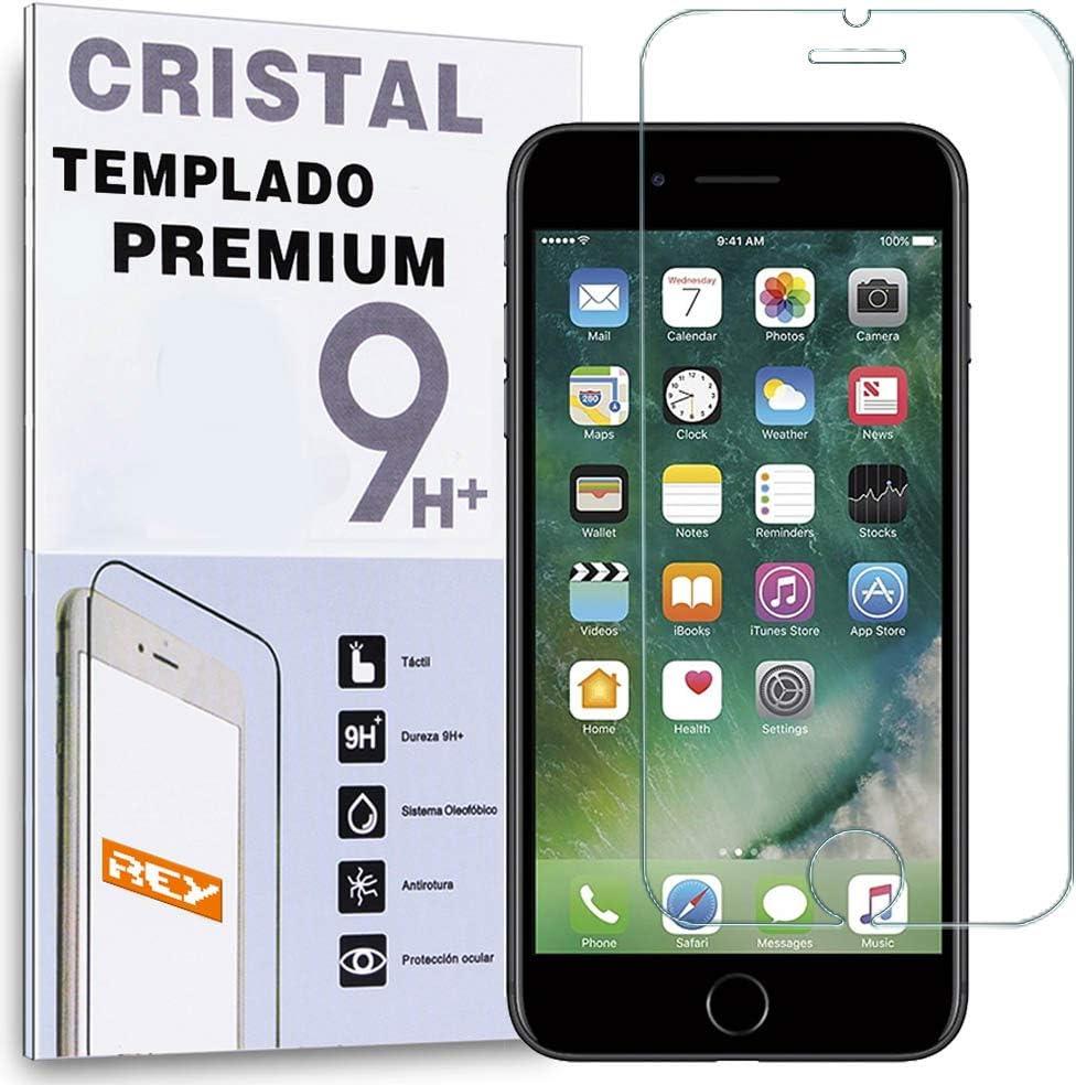 REY Protector de Pantalla para iPhone 7 Plus/iPhone 8 Plus, Cristal Vidrio Templado Premium