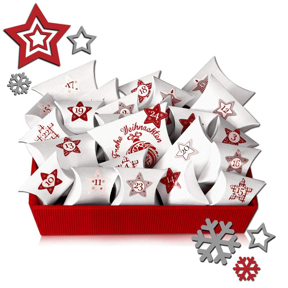 tumundo Adventskalender Zum Befüllen 26-teilig Weihnachtskalender ...