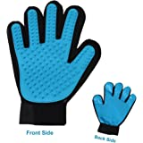 HANCIN 2-in-1 Pet Glove - Pet Grooming Glove for Dog, Cat & Horses - Gentle Pet Deshedding Brush Grove