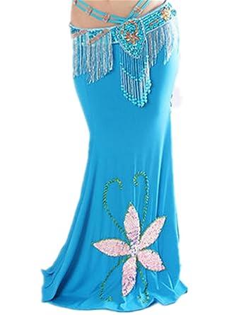 Para mujer falda danza del vientre tribal Danza Disfraces flores ...