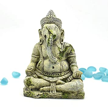 CANAVA Adorno para Acuario Adornos para Acuarios Adhesivos para Acuarios de Seguridad Decoraciones para el Paisaje No Tóxico Estatua de Buda Ornamento de ...