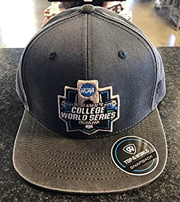 2018 College World Series Flatbill Cap Grey by Top of the World