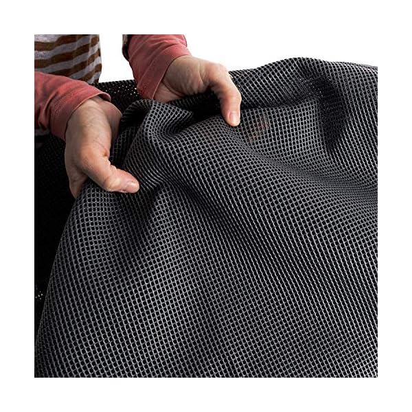 61l7Ycbs3RL Vorzeltteppich Soft Breite 250/300 - ZUSCHNEIDBAR - ohne Ausfransen - formfest - weich - grau - leicht - waschbar…
