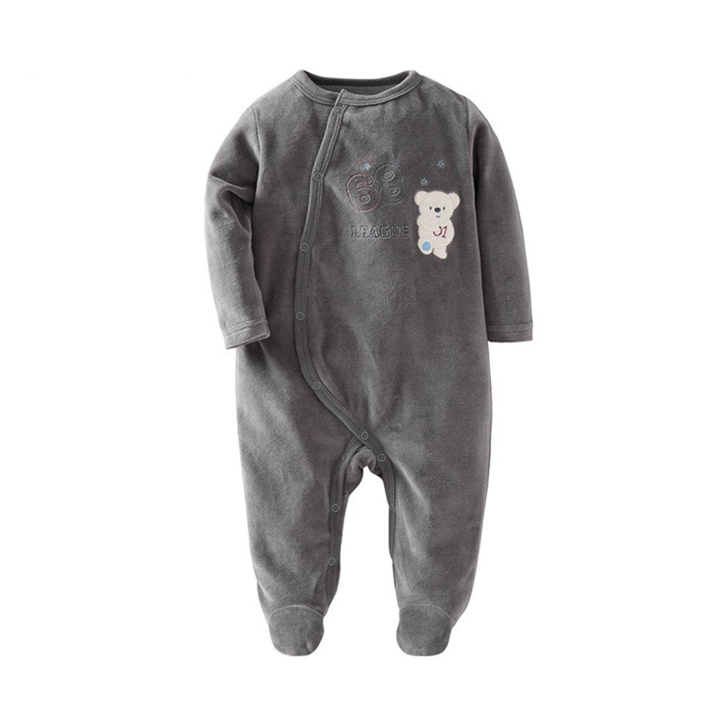 Bambino Pagliaccetto Tuta di velluto maniche lunghe Onesies Unisex Tutine infantile Pigiama Autunno Inverno Jumpsuit Outfits, 6-9 Mesi Vine Trading Co. Ltd K180714PF00104V
