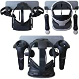 VRGE Universal VR Wall Mount Storage Stand - For Oculus Rift, Rift-S, Quest, HTC Vive, Vive Pro, Playstation VR, and Mixed Reality Headsets