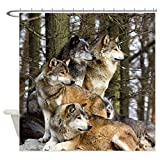 CafePress - Wolves Shower Curtain - Decorative Fabric Shower Curtain