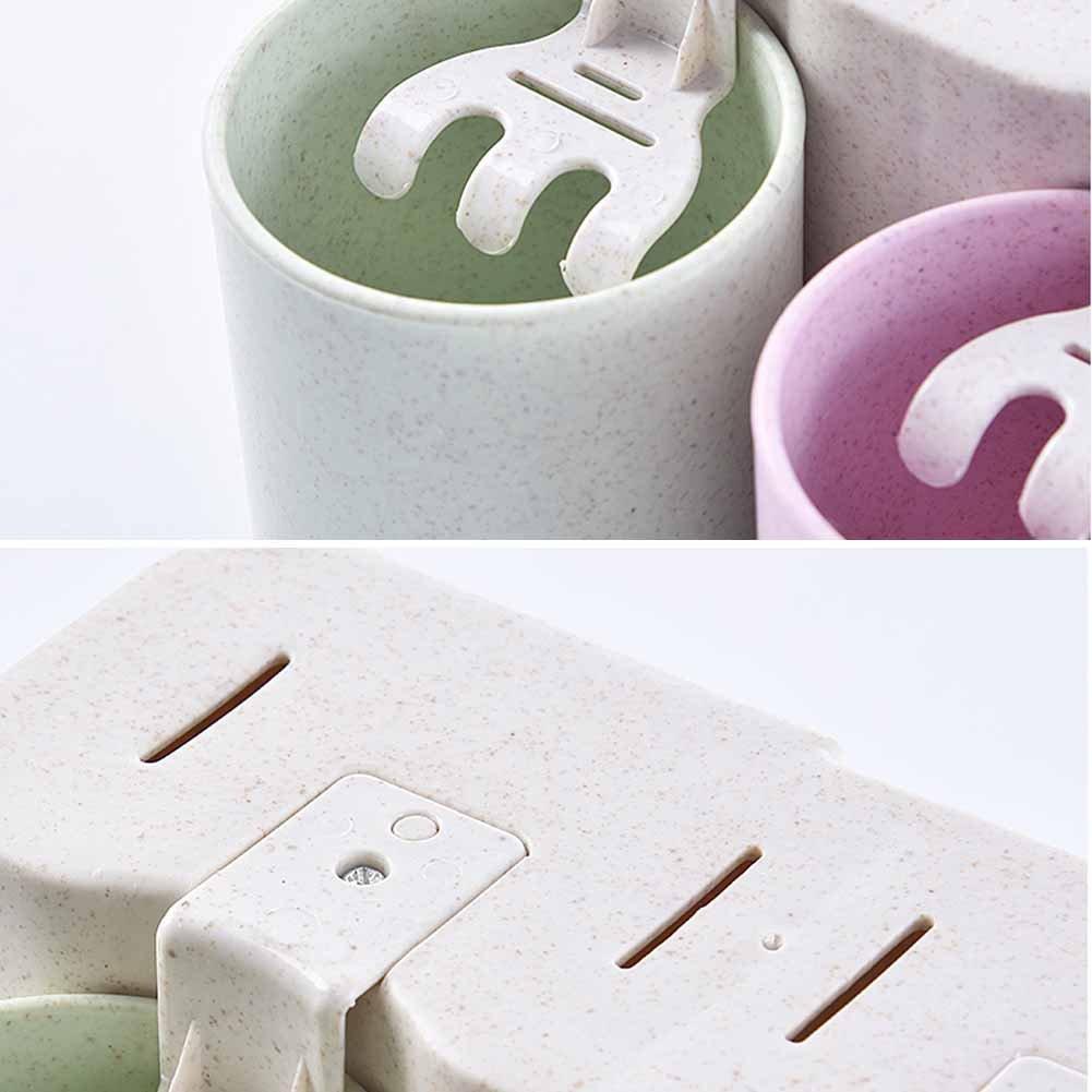 11.5 Wandhalterung Zahnb/ürstenhalter 3 Badezimmer Multifunktions White30.3 1 Zahnb/ürstenhalter, 3 Tassen 10cm