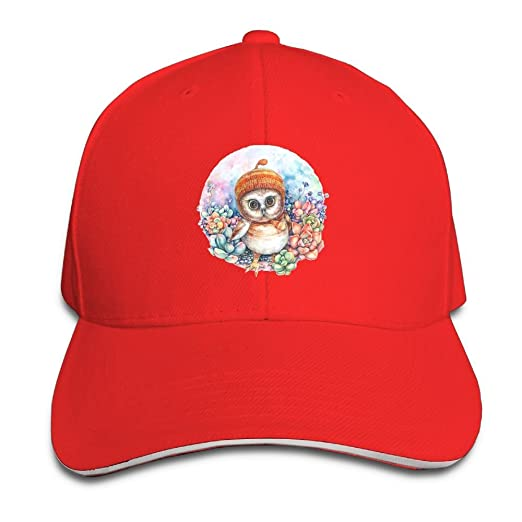 Fenme Art Owl Unisex Sandwich Caps Cool Snapback Hats Casual Trucker Hats  Graphic Snapback Cap c26bc5b78af